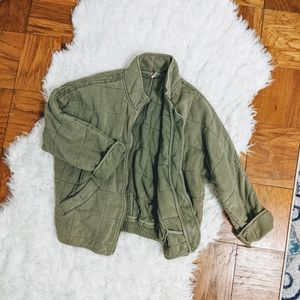 FREE PEOPLE quilted dolman jacket coat